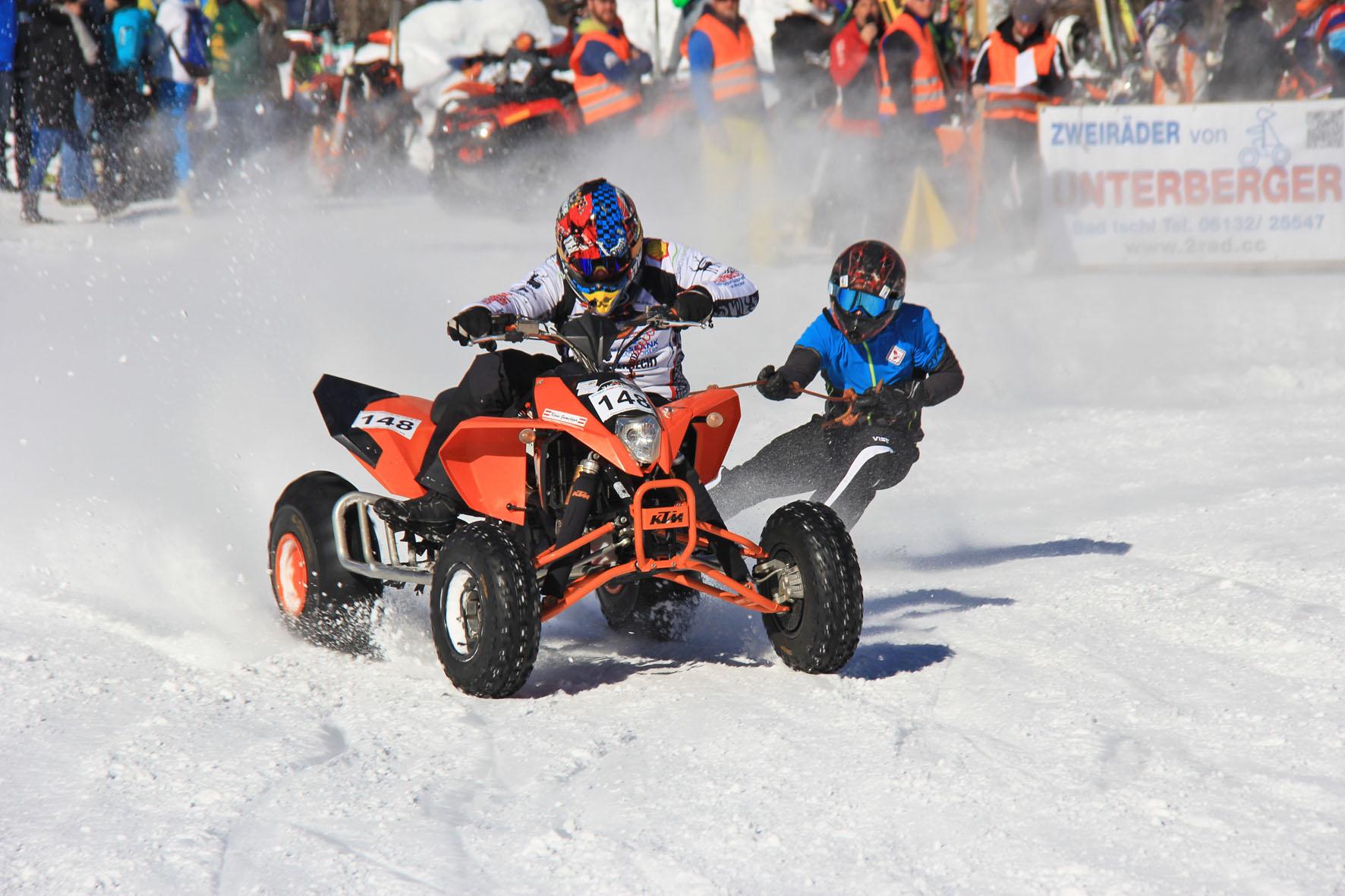 Holzknecht Skijöring Gosau _ Gamsjäger Klaus und Demmel Patrick _ Bild Karl Posch _ LR