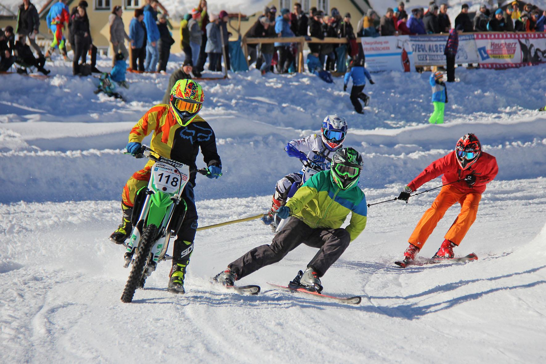 Holzknecht Skijöring Gosau _ Kiefersauer Lorenz und Elias Kubikcek _ Bild Karl Posch _ LR