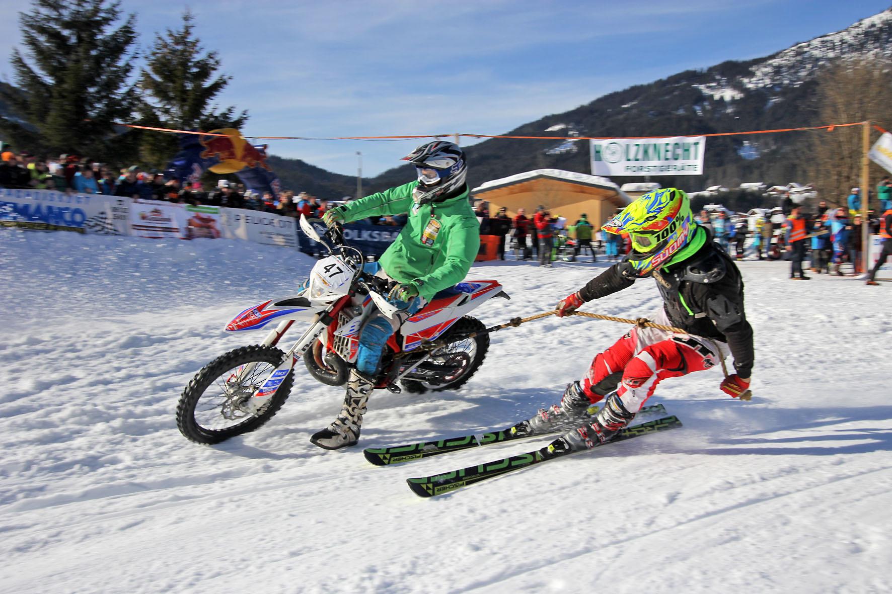 Holzknecht Skijöring Gosau _ Oberholzner Florian und Brandner Anton _ Bild Karl Posch _ LR