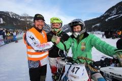Holzknecht Skijöring Gosau _ Organisator Andi Gamsjäger mit Oberholzner Florian und Brandner Anton _ Bild Karl Posch _ LR